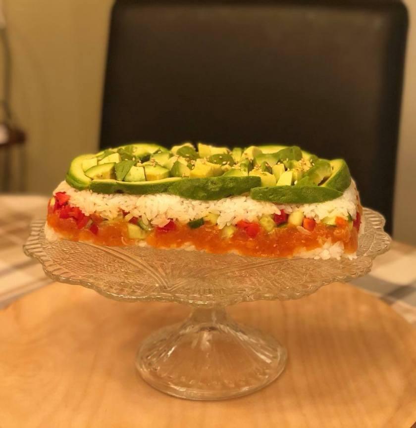 Sushi Cake - Sushi Tårta